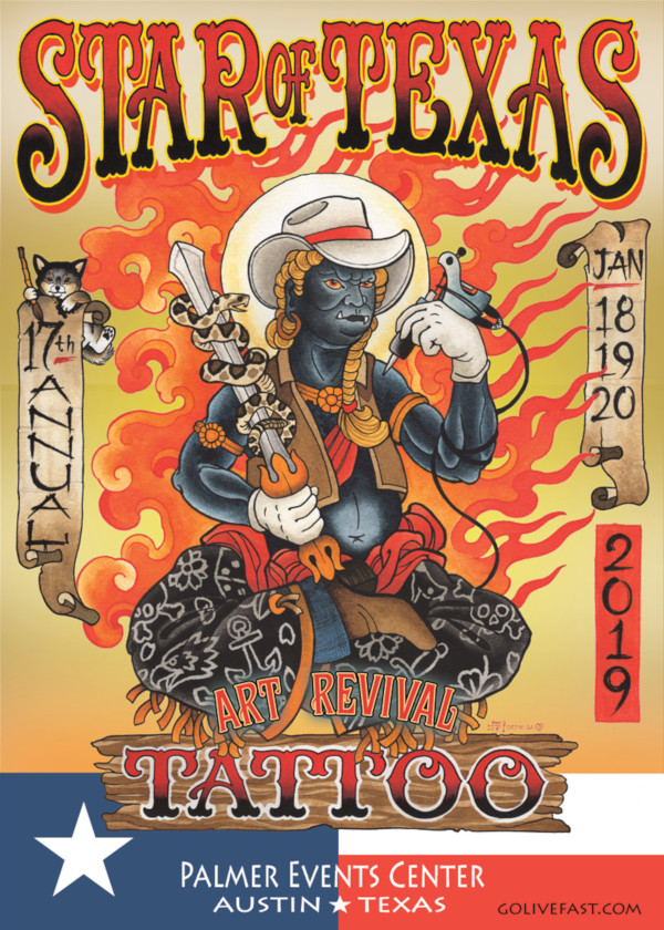 Star of Texas Tattoo Arts Revival Austin Texas January 18-20, 2019