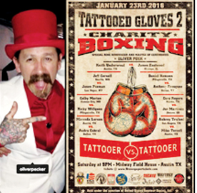 Oliver Peck and Tattooed Gloves Boxing